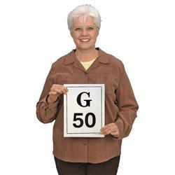 (Nasco Large Deck Laminated Bingo Calling Cards - SN01247 )