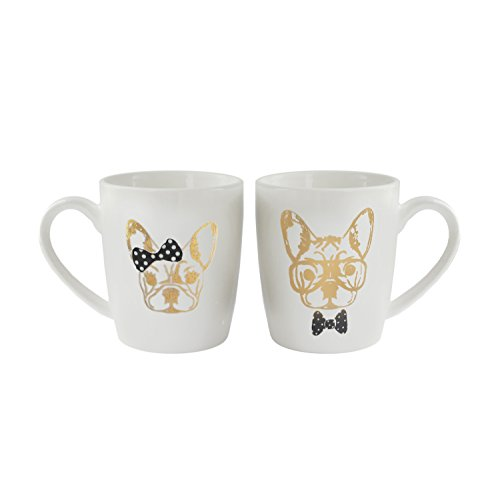 American Atelier 1562544-2M Elle Collection Coffee Mugs, Whi