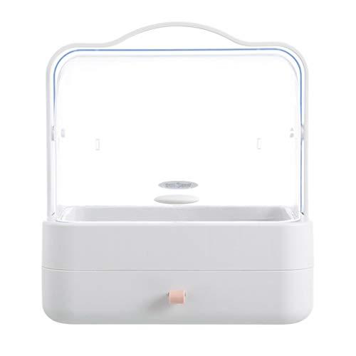(BCDshop Makeup Organizer Storage Display Boxes Large Capacity Dust-Proof Desktop Drawer Dresser Rack Cosmetic Storage Box (Pink 1))