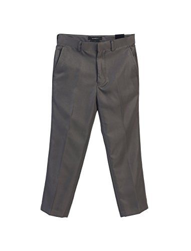 Charcoal Flat Front Pant - 3