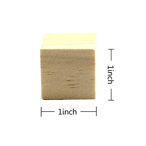 """Wooden Blocks -50pcs 1"""" Baby Wood Cubes - For Puzzle Making, Crafts, And DIY Projects by MAIYUAN"""