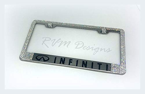 Bling Chrome License Plate Frame made with Swarovski Crystals - Car Jewelry -  RVMdesigns