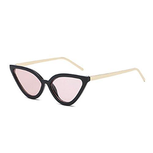 Eye Cat Retro Aiweijia Rosa Gafas sol de para Negro mujer de Vintage Gafas sol Gafas qttwUFI