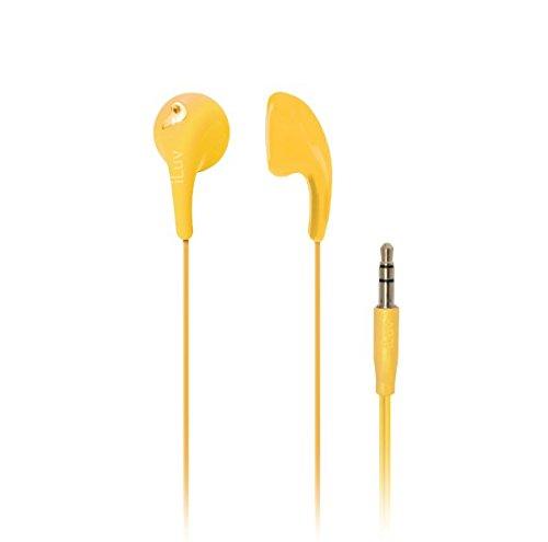 iLuv iEP205YEL Bubble Gum 2 Flexible, Jelly-Type Stereo Earphones - Yellow
