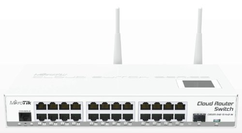 Mikrotik CRS125-24G-1S-2HnD-IN, Cloud Router Gigabit Switch, Fully manageable Layer 3, 24x 10/100/1000, 1000mW Wireless (Cloud Router Switch Crs109 8g 1s 2hnd In)