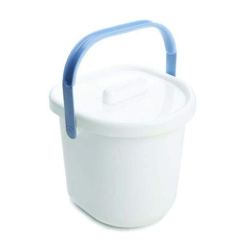 The Neat Nursery Co. Nappy Pail and Lid White/Blue