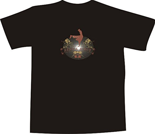 Black Dragon T-Shirt for men and women E313 with multicolored frontprint black L - africa bed boys by Black Dragon