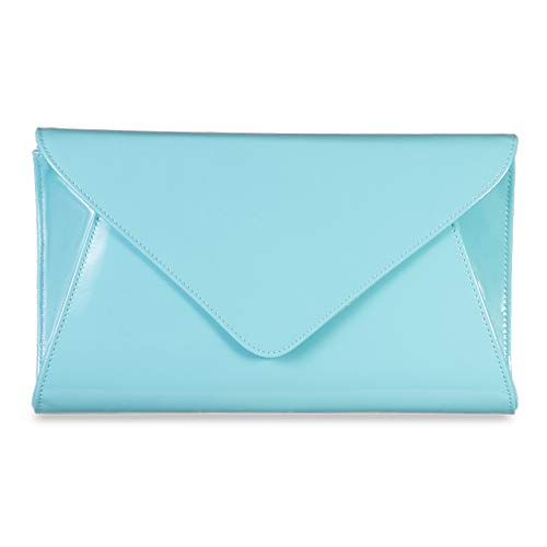 Bridal Clutch Party Leather Bag Women Cross Smart Wedding Patent Mint Envelope Handbag Body Bags Purse OxZn1qwI