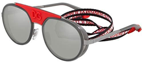Dolce & Gabbana Men's 0DG2210 Gunmetal/Transprent Grey/Light Grey Mirror Silver One Size (Dolce Gabbana Sonnenbrille Herren)