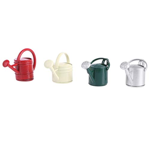 Simdoc Mini Watering Can Ornament Metal Alloy Miniature Furniture Micro Watering Can Sprinkler Fairy Garden Decor