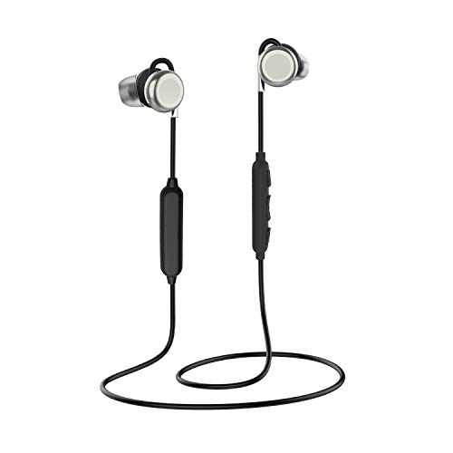 Bluetooth Earphones, ZoeeTree Wireless Bluetooth 4.1 Sports Headphones, Stereo Sound, Hall Magnetic Switch, IPX7 Waterproof, Built-in Noise Cancelling Mic, 8 hours Playtime (Iron grey) by ZoeeTree