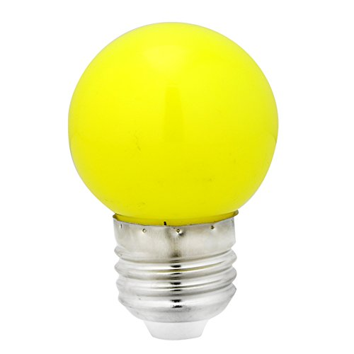MEXUD 1W Coloured Round Light Yellow