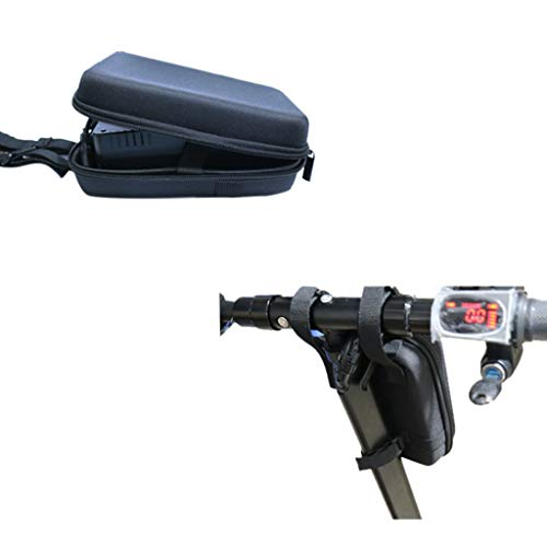 kitt Universal Electric Scooter Head Handle Front Frame Hanging Handlebar Charger Carrier Storage Bag Black EVA Waterproof Portable for Xiaomi Mijia M365 Electric Scooter ()