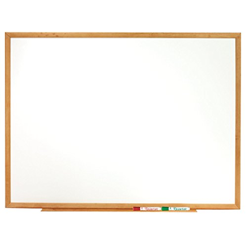Quartet Dry Erase Board, 8' x 4' Whiteboard, Standard, Oak Finish Frame (S578)