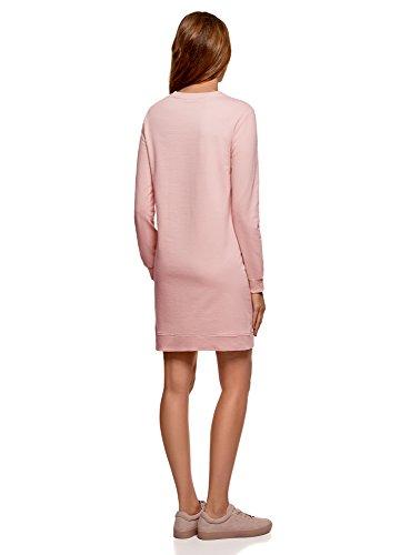 avec de 4b19p Femme Sport Robe Imprim Ultra Rose oodji AfxqBB