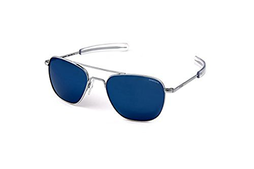 Randolph Aviator Sunglasses Matte Chrome / Bayonet / Blue Sky PC - Matte Aviators