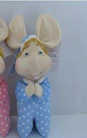 """12"""" Blue Praying Topo Gigio in Spanish Plush Doll Soft Toy"""