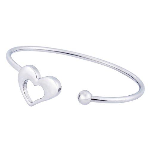 HOUSWEETY Acier inoxydable 316 Bracelets Ouverte DIY Simples Parure A la Main