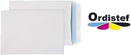 Paquet De 50 Enveloppes Blanches A4 C4 90g 229x324 sans fen/êtres avec bande d/étachable