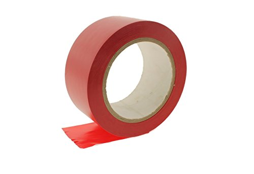 2pk 2'' RED Durable Rubber Adhesive PVC Vinyl Sealing Coding Warning OSHA Caution Marking Safety Electrical Removable Floor Tape (1.88IN 48MM) 36 yard 7 mil by WhiteCore (Image #1)