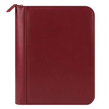 Classic FC Basics Leather Zipper Binder - Red
