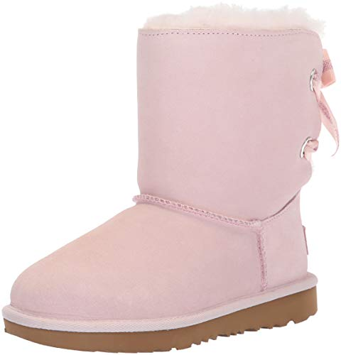 Ugg Girls Bailey Bow (UGG Girls' K Customizable Bailey Bow II Fashion Boot, Seashell Pink, 13 M US Little)
