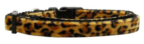 Mirage Pet Products Animal Print Nylon Collars, Small, Leopard