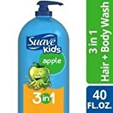 2 Bottles of Kids Apple 3 in 1 Shampoo Conditioner and Body Wash, 40 oz ea