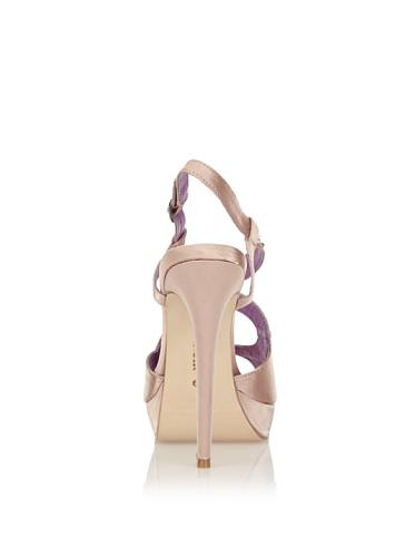 Cafènoir - Unn003 Zapatos Mujer Sandalias Con Despuntes Elegantes Plataforma Raso y Strass