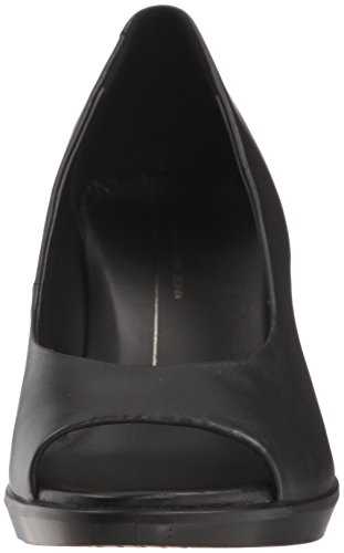Black Women's 55 Shape Open ECCO Toe Heels 1001 Black YPqw6Pdf