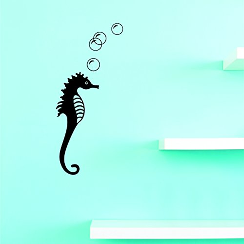 BEST SELLER DECAL SALE Seahorse Wall Art Size: 8 Inches x 20 Inches 22 Colors Available -