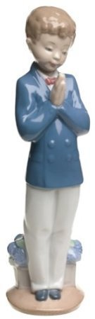 Lladro Children Figurines (Nao by Lladro Collectible Porcelain Figurine: TIME TO PRAY - 8 3/4