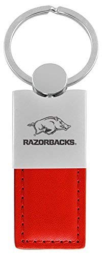 (LXG, Inc. University of Arkansas-Leather and Metal Keychain-Red)