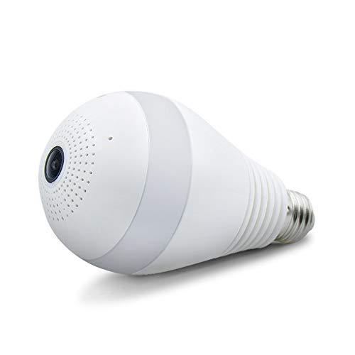 Cámara de la bombilla wifi, Monitoreo de la cabeza del monitor oculto panorámico de 360 grados, Bombilla de la...