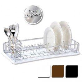 Egouttoir à vaisselle avec plateau - Blanc: Amazon.fr: Cuisine ...
