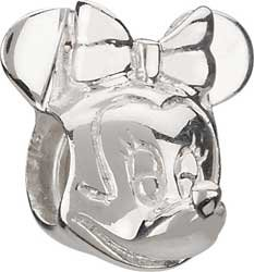Authentic Chamilia Disney Silver Minnie Mouse Bead * Sterling DIS-2