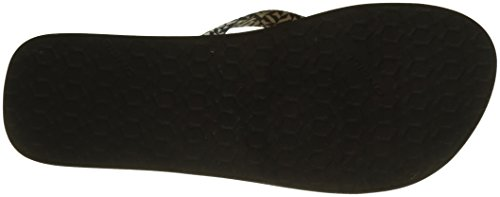 ONeill FW Woven Strap Flip Flops, Chanclas Para Mujer Schwarz (9911 Black AOP W/ White 1)