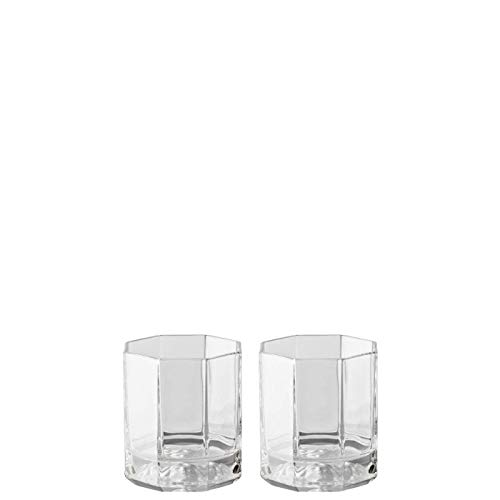 Rosenthal Versace Whiskey Glasses Medusa Lumiere – Elegant Crystal Glassware Designed by Gianni Versace – Set of 2 Tumblers