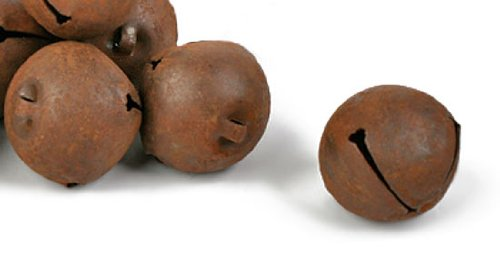 Factory Direct Craft Package of 48 Rusty Tin Jingle Bells, 25mm (About 1 inch)
