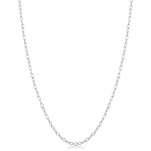 Kooljewelry Sterling Silver 1.5 mm Open Link Chain Necklace (24 inch)