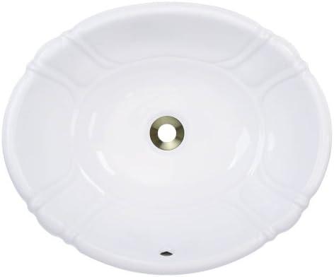 Polaris Sinks P5181OW White Porcelain Vessel Drop-In Bathroom Vanity Sink