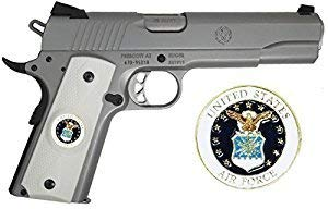 (Garrison Grip 1911 Colt Full Size and Clones with US AIR Force Medallion Set in Light Ivory Polymer Grips)