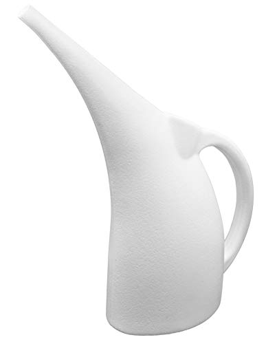 Maddey Products Small Watering Can Indoor and Outdoor. Shatterproof. Lightweight (1/2 Gallon). 100% Recyclable Watering Pot (White).