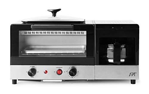 BM-1120B: 3-in-1 Breakfast Maker, Stainless Steel & Black