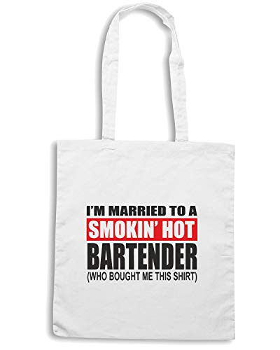 I BEER0242 BARTENDER MARRIED A M Shopper Borsa HOT Bianca TO SMOKIN qtnPaWFH