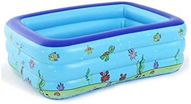 XLEVE インフレータブルプール、長方形プールポータブル赤ちゃん盆地バスタブプール水プレイ