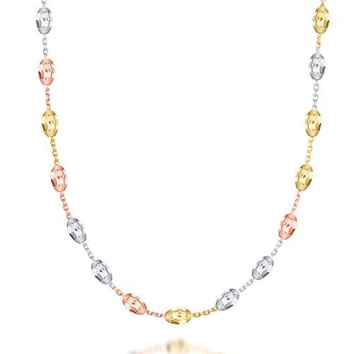 Multicolore perles Câble Collier avec fermoir mousqueton