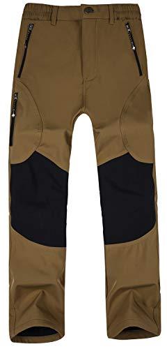 Singbring Men's Outdoor Windproof Hiking Pants Waterproof Ski Pants X-Large Tan(05F) (Snowboard Black Pants)