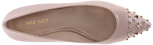 Nine West Womens Adelphine Synthetic Pointed Toe Flat Light Natural