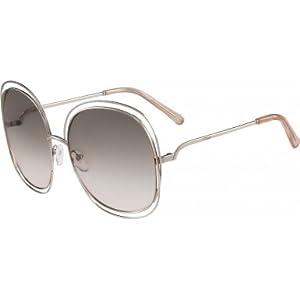 Chloe CE126S 724 Gold / Peach Carlina Squared Square Sunglasses Lens Category 1